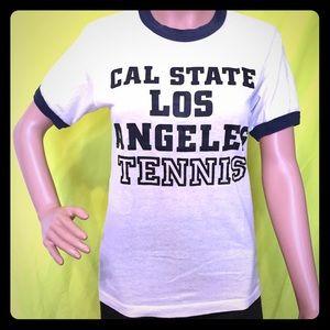 Vintage 1980s Cal State Los Angeles Ringer Tee